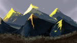 Mountain Speed Paint by AtomicTiki