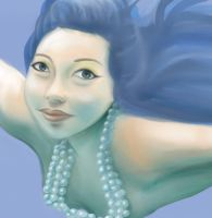 Mermaid Close up by lizzy1e