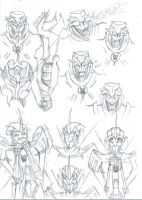 Transformers Prime Sketchdump by Demon-of-Onigashima