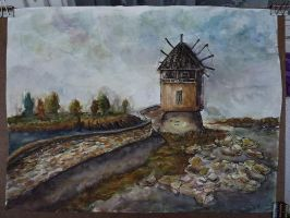 first plein air Old Nessebar,Bulgaria by KGD666
