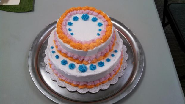 Two Tier Cake by bensonhedges