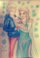 Jack Elsa and their baby by Vera-chan15