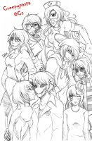 Creepypasta OCs by DeluCat