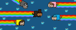Nyan Cat Layton by WPLPHFYKSATGD