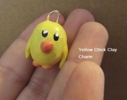 Yellow Chicky Charm by chkimbrough