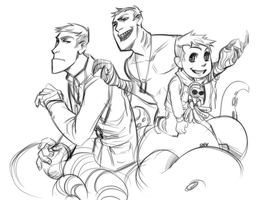 TF2: All Mikes sketch by DarkLitria