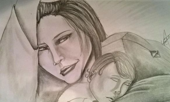 Mama Tanwen and baby by AgeOfRogues