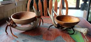 Two Antler Bowls by lupagreenwolf