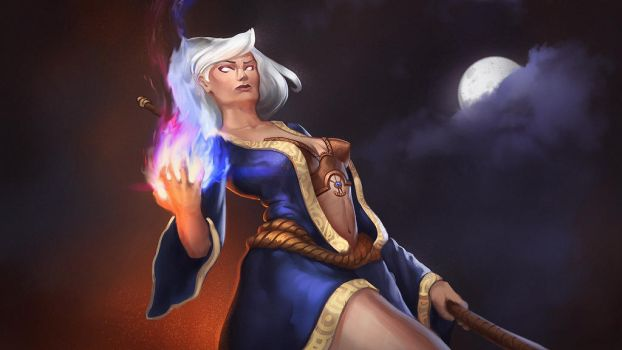 Female Mage - Character Design by VictorLafaye