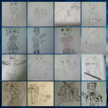 Drawings Late 2016- Early 2017 by CassChanArts