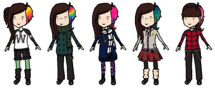 le moi, fav outfits by mouldyCat