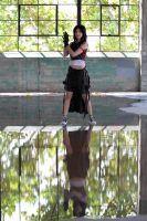 Tifa's reflection by Cosmic-Empress