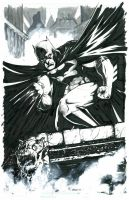 Batman black and white by grover80