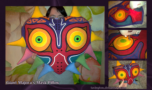 Giant Majora's Mask Pillow by tavington