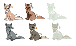 Wolf Adoptables ( Narutal Colours ) [ OPEN ] by lucinay