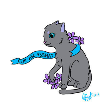 Insult Cats - Ur an Asshat by peeplup123