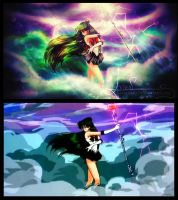 Redraw: Sailor Pluto Death Scream by Axsens