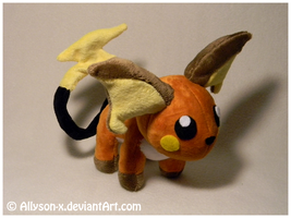 Raichu Mini-Minky Plush by Allyson-x