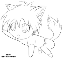 Fox-Future-Chibi? - Line Art by Fox-Future-Media