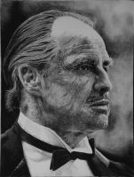 Marlon Brando as Don Vito Corleone by otong666