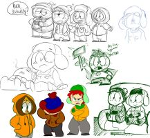 SOUTH PARK SKETCH DUMP by xCandyliciousx