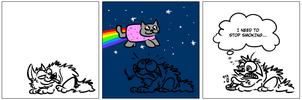 nyan nyan by derpdawg