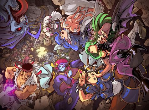 Street Fighter vs Darkstalkers issue 1 by edwinhuang