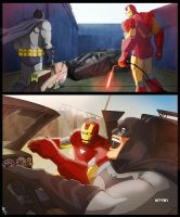 batman x iron man -OTIS by m7781