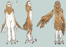 Owlsona - Eve the Barn Owl by NachttOwl