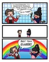 Ace Attorney logic by Berendsnors-Fanart