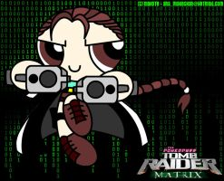 Powerpuff Matrix Lara Croft by analage