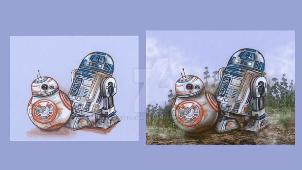 R2 and BB-8 Timelapse Video: Before and After by spelleria