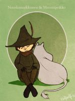 Snufkin and Moomintroll by Stumppa