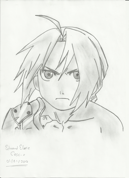 Drawing : Edward Elric by Cesc-X