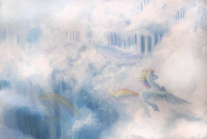 Dashie in Cloudsdale by Mao-Ookaneko