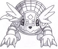 Armadillomon front view by Taurustiger86