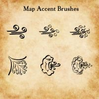 Map Accent GIMP brushes (gbr) by ALifeInColours