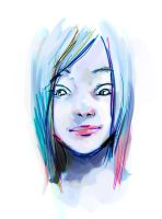 Blue Girl - Painter Test by AznKyuubi