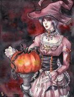 Happy Gothic Lolita Halloween by Enfuu