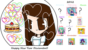Happy New Year of 2013 Deviantart! by Kawaii5Pudding