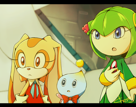 Sonic X: Cosmo, Cream, Cheese. by Cheroy