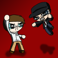 AVGN vs Nostalgia Critic by THUNDRkitty