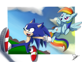 .:Sonic Rainbow Boom:. by The-Butcher-X