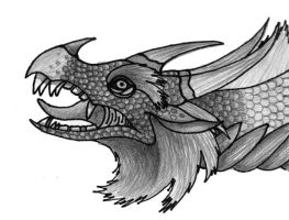 Doodle dragon by Skychaser