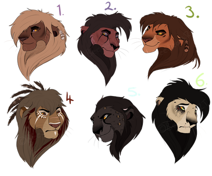 Lion adopts: CLOSED by BeeStarART