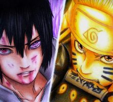 Sasuke and Naruto by XDaannX