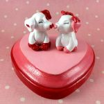 Puppy Love Sculpture by LeiliaClay