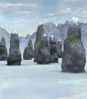 Winter henge background by indigodeep