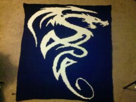 Tribal Dragon Blanket by TheHarley