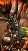 Boba Fett by Fluorescentteddy